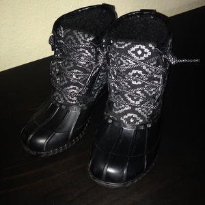 Children's black boots